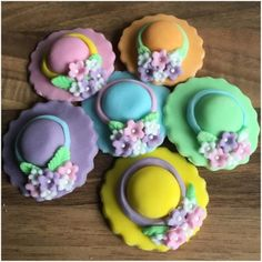 Decorations & Cake Toppers Home, Furniture & DIY Easter Cake Toppers, Flower Cake Toppers, Cupcake Toppers, Sugar Decorations For Cakes, Gem Cake, Mothers Day Cupcakes, Easter Party, Easter Food, Sugar Cake