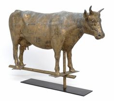 Full bodied cow weathervane.