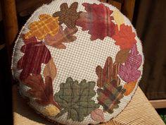 ThreeSheepStudio: Autumn's Glory Wool Pillow...