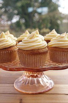 Rhubarb and Custard Cupcakes