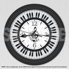 Piano-Keys-Decorative-Wall-Clock