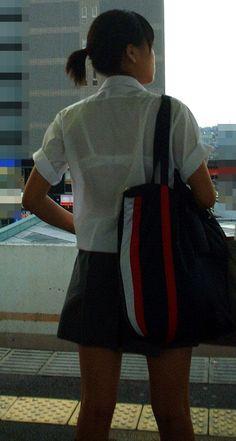 【盗撮画像】JKの透けブラや透け乳首がエロ過ぎワロタ 40枚 No.33