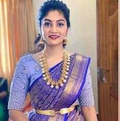 Half Saree Designs, Blouse Designs Silk, Kids Party Wear Dresses, Wedding Saree Collection, Wedding Silk Saree, Indian Bridal Fashion, Types Of Dresses, Beautiful Saree, Indian Wear