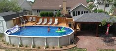 Above Ground Pool Ideas - In the summer, people like spending few hours in the swimming pool. However, you may hate the way your above ground pool looks in your backyard. Oval Above Ground Pools, Best Above Ground Pool, Above Ground Swimming Pools, In Ground Pools, Rectangle Above Ground Pool, Rectangle Pool, Swimming Pool Decks, My Pool, Backyard Patio