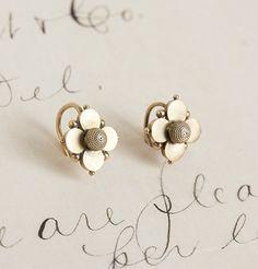 Etruscan Style Quatrefoil Earrings, $550.00