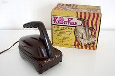 vintage RollaRay bakelite massage device machine age door srvcar