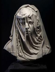 """El arte de Ruben Reveco: """"La Virgen del velo"""": Transparencia esculpida en el mármol"""