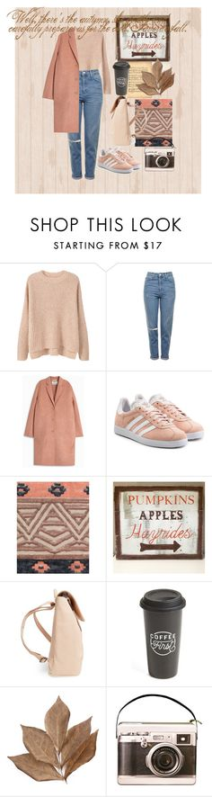 """""""Autumn"""" by melisafabi ❤ liked on Polyvore featuring MANGO, Topshop, Acne Studios, adidas Originals, Pieces, WALL, Matt & Nat, The Created Co. and Bliss Studio"""