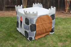 Felt Card Table Castle by shekeepsmeinstitches on Etsy, $75.00