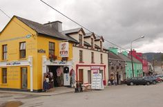 Sneem, Ireland. The store on the corner is where we bought my pink wool cap.