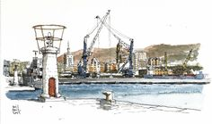 Málaga, view from fishing dock | blogged at: www.luisrpadro… | Flickr