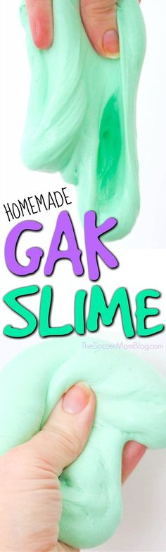 Just like the Gak slime from your childhood! Easy, homemade recipe that will keep kids busy for hours! Makes lots of fun popping noises.
