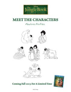 Meet the characters from the Jungle Book! #BareNecessities