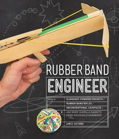 Rubber Band Engineer - Author and Engineer Lance Akiyama shows you how to create twenty-five gadgets of his own design. Most are propelled by rubber bands, while some use levers or gravity for thrust. The combination of simplicity and creativity while using ordinary objects makes these projects so extraordinary! With a wide range of project types, this book takes you beyond the basic rubber band launcher.