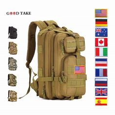 68.00$  Buy here - http://aliqnf.shopchina.info/1/go.php?t=32813762158 - 2017 Real Solid Softback Kpop Printing Backpack Goodtake High Quality Military 30-40l Waterproof Campe Bag New Pack Rucksacks  68.00$ #SHOPPING