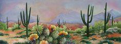 Morning's Mist in the Arizona desert watercolor painting - Barbara Ann Spencer Jump