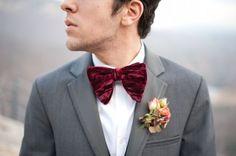 Inspiración para #novio #original con #pajarita. Una #boda de moda con #traje de #novio memorable ♥♥ The Wedding Fashion Night ♥♥ ♥ Visita www.wfnclub.com ♥