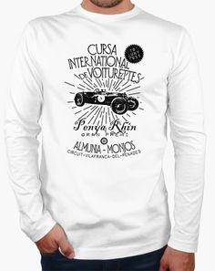 T-shirt Racing #race #car #voiturettes #granprix #vintage #cars #wheel #wheels #design #illustration #tostadora