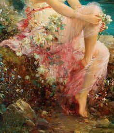 "jaded-mandarin: "" Water Lilies, 19th Century. Detail. """