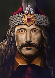 'Vlad The Impaler' by FlyingRotten Vlad El Empalador, Hellsing Alucard, Vlad The Impaler, Middle Ages, Deities, Pop Art, Statue, Portrait, Mads Mikkelsen