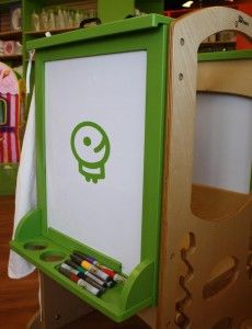 Art Easel (actual product without the logo) double sided one side is a dry erase board, the other side is a chalk board!
