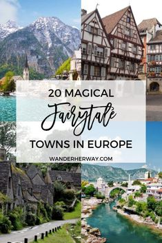 Magical Fairytale Towns in Europe Reiseziele in Europa 20 Magical Fairytale Towns in Europe You Need to Visit European Vacation, European Travel, Europe Travel Guide, Travel Guides, Travel Checklist, Travel Deals, Travel Packing, Travel To Italy, Backpacking Europe Tips