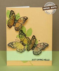 Hero Arts Cardmaking Idea: Just Saying Hello