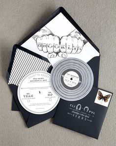 Playful wedding invitation suite from #SwissCottageDesigns #brooklyn #newyorkwedding