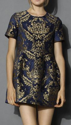 Glorious Baroque Intarsia Dress