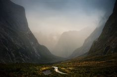 Driving to Milford Sound, New Zealand
