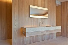Villa in Saint Tropez by John Pawson - sinks in honed Giallo Dorato by Grassi Pietre