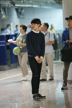D.O - 141026 Incheon Airport, arrival from Beijing - [HQ] Credit: suave island