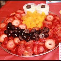 Elmo Party Fruit Tray - @Nicole Mammucari