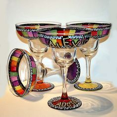 hand painted glassware - Google Search