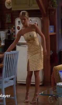 Jennifer Aniston🌷 in a 👗gorgeous yellow dress gorgeous yellow dress Estilo Rachel Green, Rachel Green Style, Rachel Green Outfits, Fashion Tv, Green Fashion, Look Fashion, Fashion Outfits, Throwback Outfits, 90s Inspired Outfits