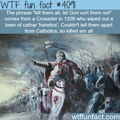 how bad and deadly were the crusades - WTF Facts Wtf Fun Facts, True Facts, Funny Facts, Funny Memes, Random Facts, Crazy Facts, Strange Facts, Random History Facts, Odd Facts