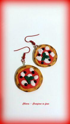 #Orecchini in #fimo handmade #pizza idea regalo , by Chiara - Creazioni in fimo, 8,00 € su misshobby.com