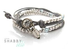 Bracelet *Shabby blue* - une création orginale de LESVAR sur DaWanda
