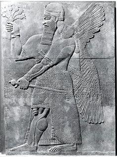 Relief panel Period: Neo-Assyrian Date: ca. 883–859 B.C. Geography: Mesopotamia, Nimrud (ancient Kalhu) Culture: Assyrian Medium: Gypsum alabaster