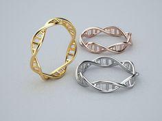 18 k oro ADN hebra aro