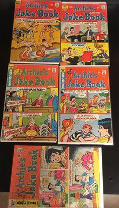 Archie Series Giant Little Archie Comic Books -Set of 4 Archie Comics Characters, Archie Comic Books, Jughead Comics, Comic Prices, Joke Book, Vintage Disney, Vintage Silver, 1970s, Congratulations