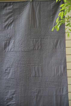 broken plaid quilt.  I love the simple lines of this quilt.