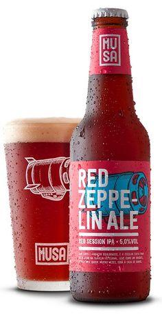 Cerveja Redzeppelin Ale Craft Beer Glasses, Craft Beer Gifts, Craft Beer Labels, Make Your Own Beer, How To Make Beer, Beer Packaging, Packaging Design, Ipa, Branding