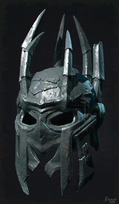 Study - Iron Helmet, Ignacio Berge on ArtStation at https://www.artstation.com/artwork/dgX5J