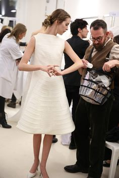 Backstage at Valentino Spring Couture 2013