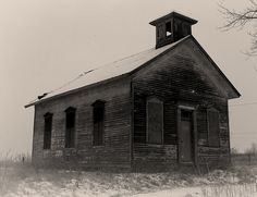 One room school house in Washington, Michigan by John Levanen.