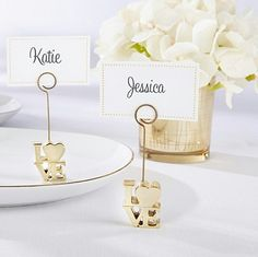 Hot-24 Pack Of Table Number Card Holders Photo Holder Stand Place Card Paper Menu Clips Holders Full Range Of Specifications And Sizes Gold Heart Shape Famous For High Quality Raw Materials And Great Variety Of Designs And Colors