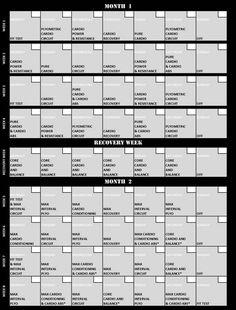 Insanity Workout Schedule Calendar - http://intenseworkoutdvd.com/tag/insanity-workout-schedule