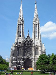 Take a walk along the Ringstraße in Vienna, Austria and visit the neo-Gothic Votive Church