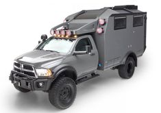 Burly truck camper is adventure ready Expedition Vehicles For Sale, Expedition Truck, Overland Truck, Off Road Camper, Truck Camper, Truck Bed, Dodge Trucks, Pickup Trucks, Ram Trucks